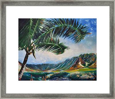 Serene Beauty Of Makua Valley Framed Print