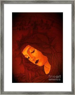 Serene Botticelli Madonna Framed Print by Genevieve Esson