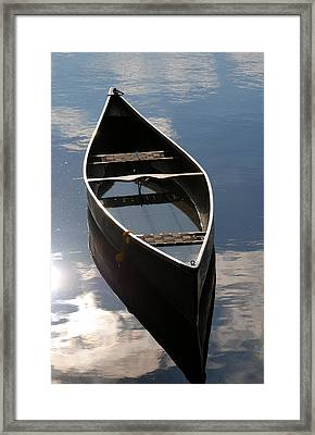 Serene Canoe With Sky Framed Print by Renee Forth-Fukumoto