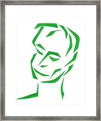 Serene Face Framed Print