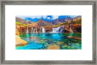 Serene Green Waters Framed Print
