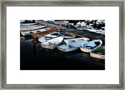 Serene Harbor Downeast Maine Framed Print by Thomas Schoeller