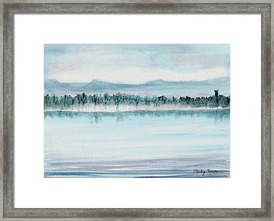 Serene Lake View Framed Print by Mickey Krause
