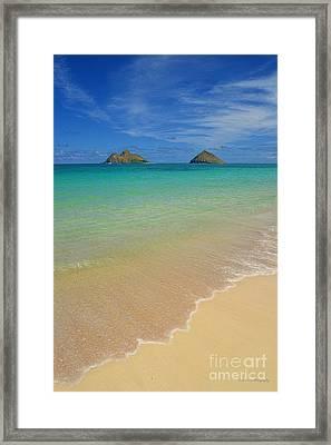 Serene Lanikai Beach Framed Print