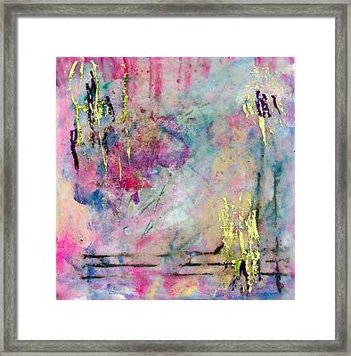 Serene Mist Encaustic Framed Print by Bellesouth Studio