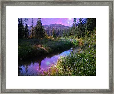 Serene Mountain Moment Framed Print