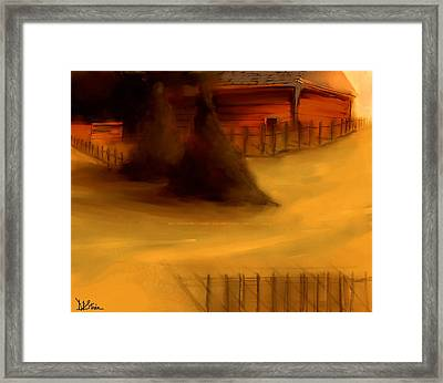 Serene New England Cabin In Autumn #3 Framed Print by Diane Strain