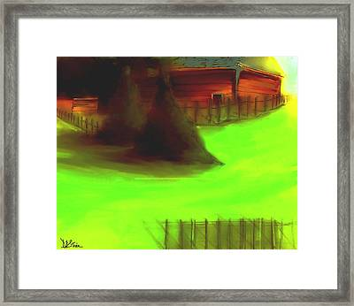 Serene New England Cabin In Summer  #4 Framed Print by Diane Strain