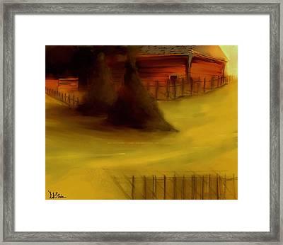 Serene New England Cabin In Autumn 5 Framed Print by Diane Strain