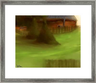 Serene New England Cabin In Summer  #6 Framed Print by Diane Strain