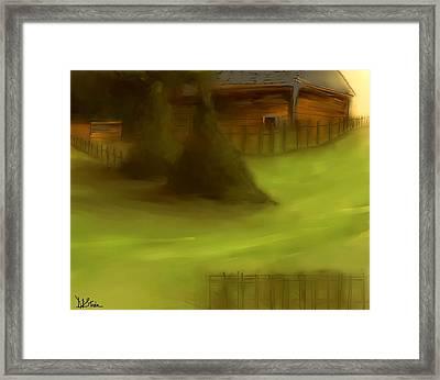Serene New England Cabin In Summer  #7 Framed Print by Diane Strain