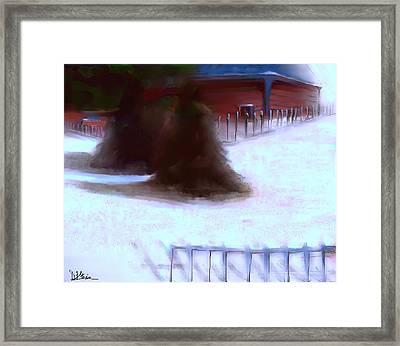 Serene New England Cabin In Winter #10 Framed Print by Diane Strain