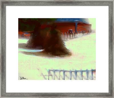 Serene New England Cabin In Winter #11 Framed Print by Diane Strain