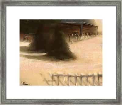 Serene New England Cabin In Winter #8 Framed Print by Diane Strain