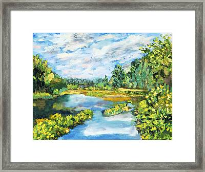 Serene Pond Framed Print