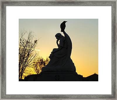 Serene Silhouette Framed Print