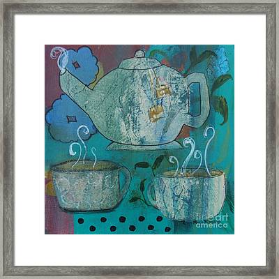 Serene Tea Framed Print by Robin Maria Pedrero