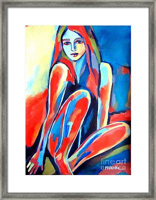 Serene Thoughts Framed Print by Helena Wierzbicki