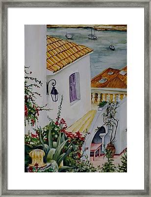 Serene Villa Framed Print by Maris Liepins