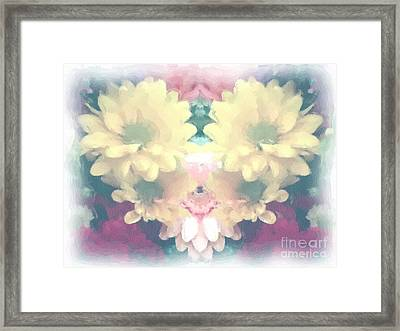 Framed Print featuring the photograph Serene Zinnias by Luther Fine Art