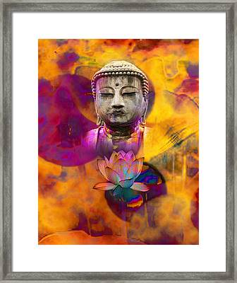Serenely Awakened One Framed Print by Bruce Manaka