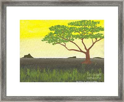 Framed Print featuring the painting Serengeti by David Jackson