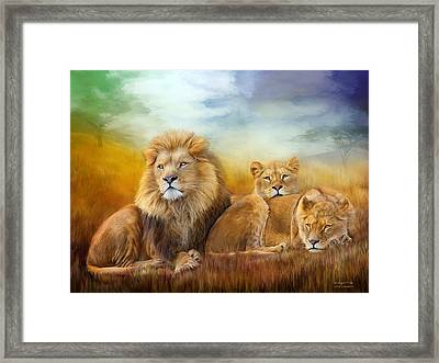 Serengeti Pride Framed Print