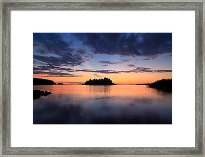 Serenity After The Sunset Framed Print by Teemu Tretjakov