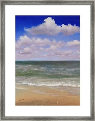 Serenity At Sea Framed Print by Eve  Wheeler