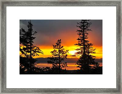 Serenity At Sunset - Lake Tahoe - Nevada Framed Print