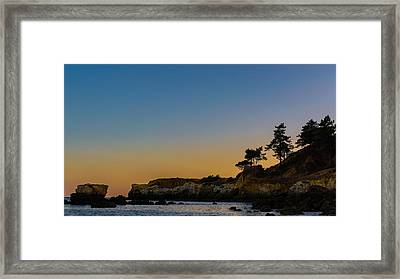 Serenity At Sunset Framed Print by Marco Oliveira