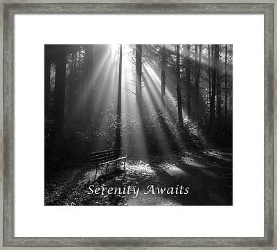 Serenity Awaits Framed Print