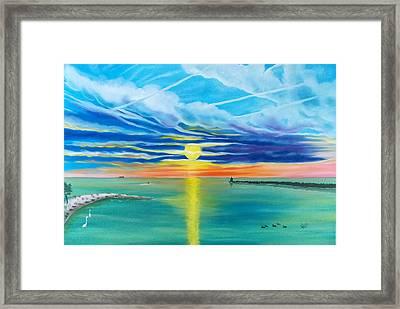 Serenity Bay Framed Print by Kathern Welsh