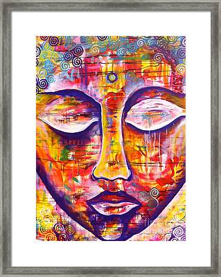 Serenity Buddha Framed Print by Kim Heil