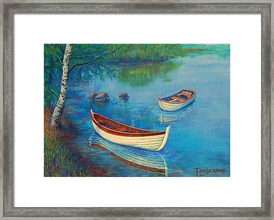 Serenity Cove Framed Print by Tanja Ware