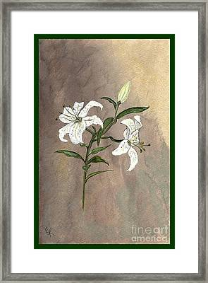 Serenity Framed Print by Ella Kaye Dickey