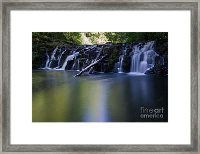 Serenity Falls Framed Print by Jackie Follett
