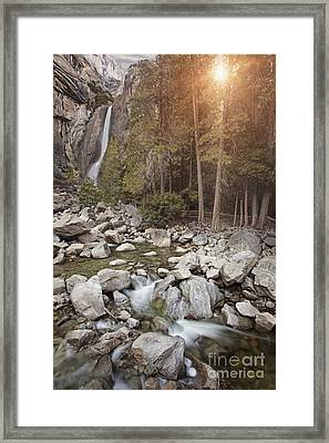 Serenity Falls Framed Print by Susan Gary