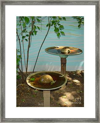 Framed Print featuring the photograph Serenity  Fountain by Lyric Lucas