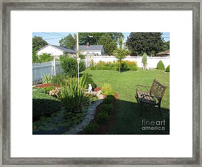 Framed Print featuring the photograph Serenity Gardens by Margaret Newcomb