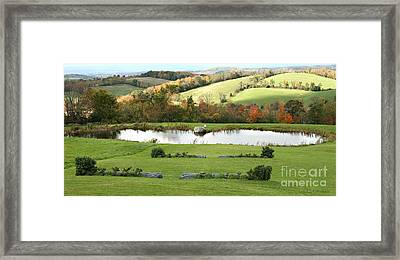 Framed Print featuring the photograph Serenity Hill by Carol Lynn Coronios