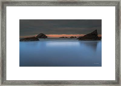 Serenity In Blue.... Bandon Framed Print