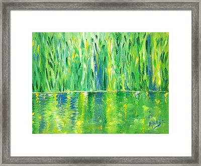 Serenity In Green Framed Print