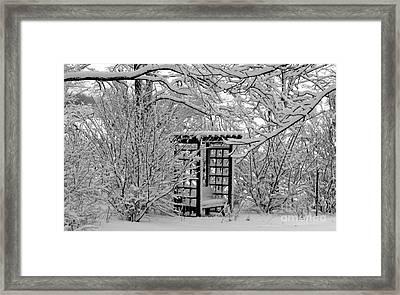 Serenity In Snow Framed Print