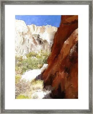 Serenity In The Desert Framed Print by Jason  Donaire