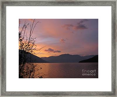 Serenity Framed Print by Leone Lund