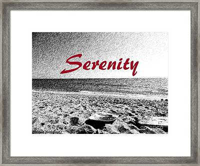 Serenity Framed Print by Maggie Rodriguez