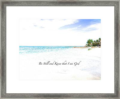 Framed Print featuring the photograph Serenity  by Margie Amberge