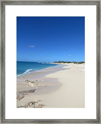 Serenity On Grand Turk Framed Print by Jean Marie Maggi