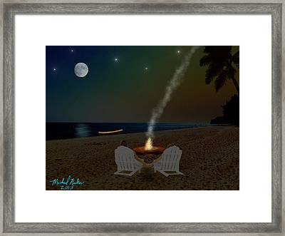 Serenity On The Beach Framed Print